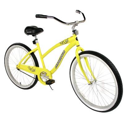 Womens  Magna 26-in. Rip Curl Cruiser Bike - Yellow