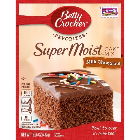 Betty Crocker Milk Chocolate Cake Mix