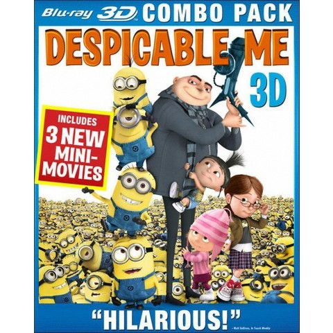 Despicable Me (4 Discs) (3D) (Blu-ray/DVD) (W) (Widescreen)