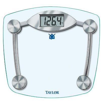 "Taylor Biggest Loser Glass Digital Scale - Silver (11.2"" x 12.5"")"