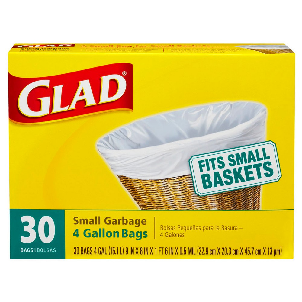 Upc 012587001509 Glad Indoor Small Garbage Bags 4