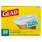 Glad Small Garbage Bags 4 Gallon 30 ct