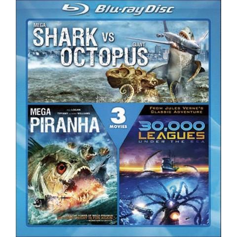 30,000 Leagues Under the Sea/Mega Shark vs. Giant Octopus/Mega Piranha (Blu-ray) (Widescreen)