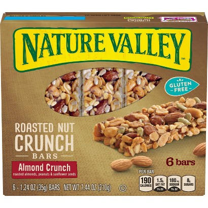 Nature Valley Roasted Almond Crunch Granola Bars Gluten Free 6 ct