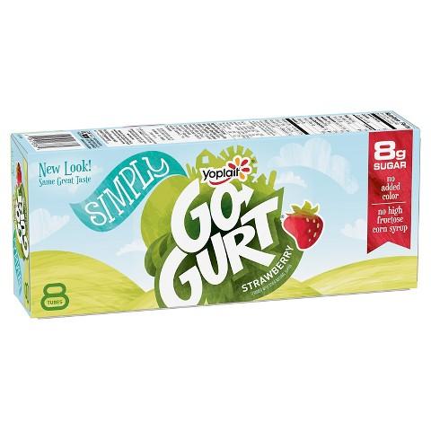 Yoplait GoGurt Strawberry Tubes 2.25 oz 8 ct