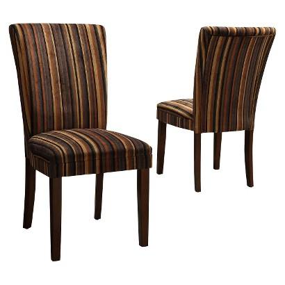 Dolce Chair - Stripe Print (Set of 2)
