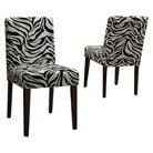 Dolce Zebra Print Chair - Black/White (Set of 2)