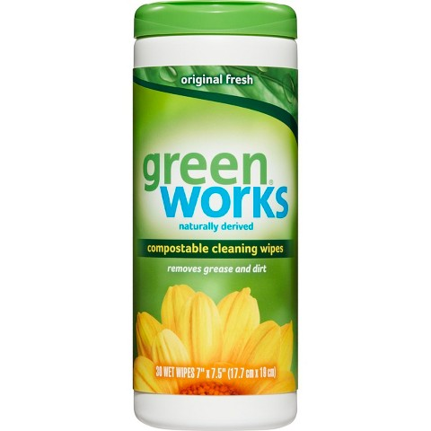 Green Works Compostable Cleaning Wipes, Original, 30 ct