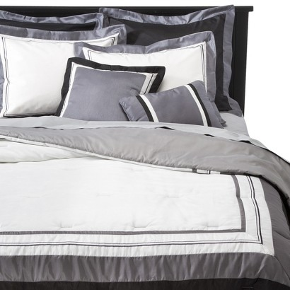 Hotel 8 Piece Bedding Set - Silver