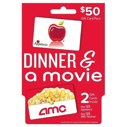 Dinner and a Movie Gift Card Pack (Applebee's/AMC Theatres) - $50