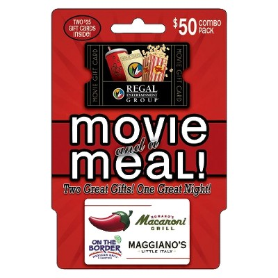 Brinker/Regal Meal and a Movie Gift Card - $50