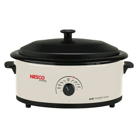 Nesco Ivory Roaster Oven with Metal Lid - 6 Quart