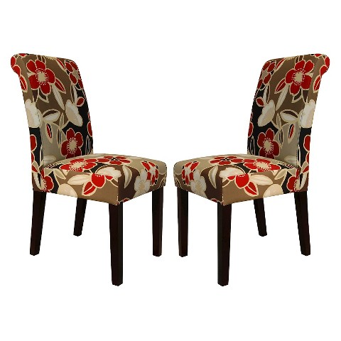 Avington Dining Chair Set of 2 - Red Floral