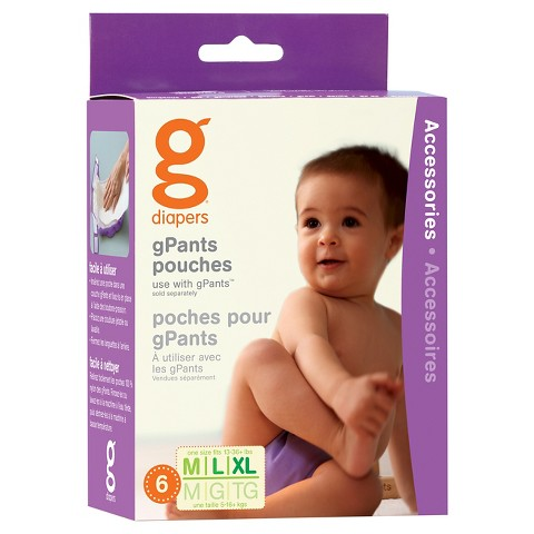 gDiapers gPants Pouch 6 Pack - Sizes S,M-XL