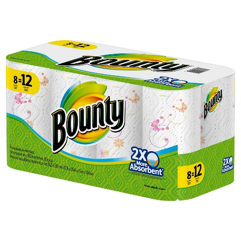 Bounty Print Paper Towels 8 Giant Rolls