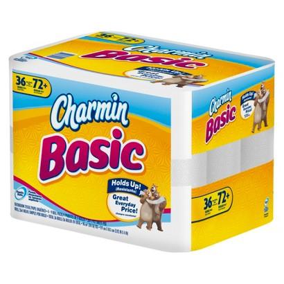 Charmin Basic Double Rolls Bathroom Tissue 36 pk