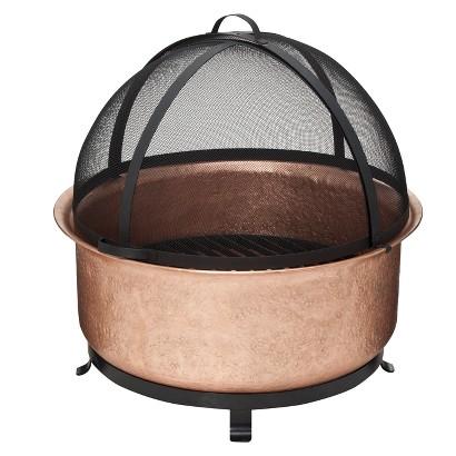 Smith & Hawken® Premium Quality Copper Cauldron Fire Bowl with Screen