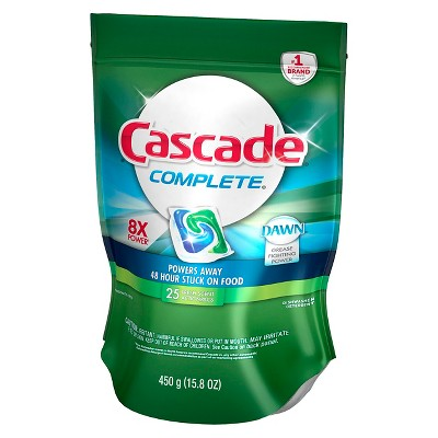 Cascade® Complete™ ActionPacs™ Fresh Scent Dishwasher Detergent 25 Ct