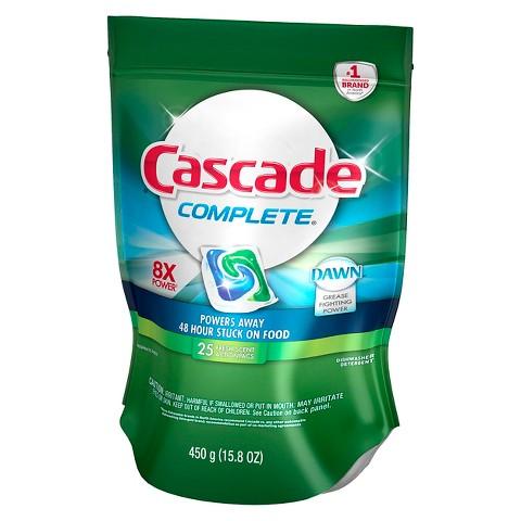 Cascade® Complete™ ActionPacs™ Fresh Scent Dishwasher Detergent 25 Ct