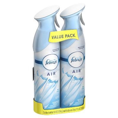Febreze Air Effects Linen & Sky Scent Air Freshener Spray 9.7 oz, 2 pk