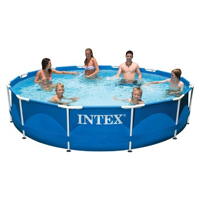 "Intex 12' x 30"" Metal Frame Swimming Pool"