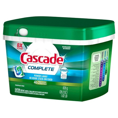 Cascade® Complete™ ActionPacs™ Fresh Scent Dishwasher Detergent 46 Ct