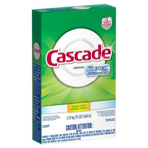 Cascade with Clorox Lemon Scent Powder Dishwasher Detergent 75 oz