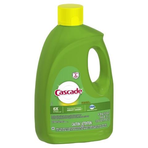 Cascade with Dawn Lemon Scent Gel Dishwasher Detergent 155 oz