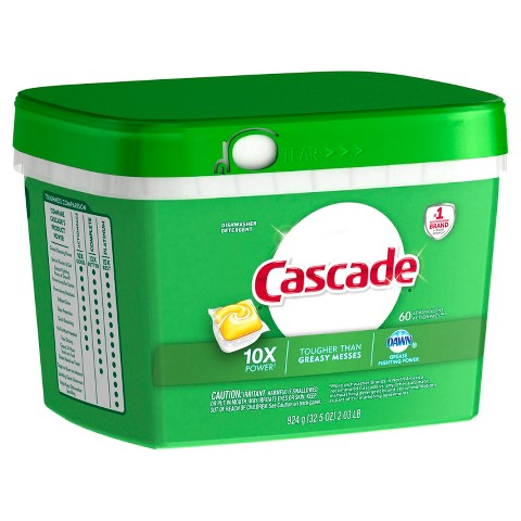 Cascade with Dawn Action Pacs Citrus Scent Dishwasher Detergent Pacs 60 ct