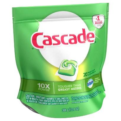 Cascade Dishwasher Detergent ActionPacs Fresh Scent 20 ct