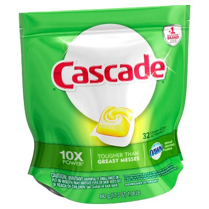 Cascade with Dawn Action Pacs Citrus Scent Dishwasher Detergent Pacs 32 ct