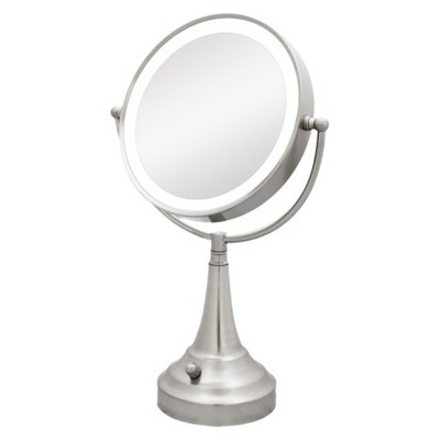 Zadro Dual LED Lighted Vanity Mirror -  1X & 10X Magnification