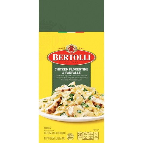 Bertolli Frozen Chicken Florentine & Farfalle Dinner 24 oz