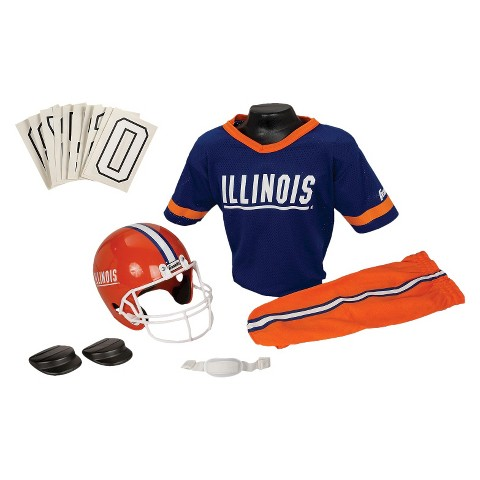 Franklin Sports Illinois Deluxe Football Helmet/Uniform Set