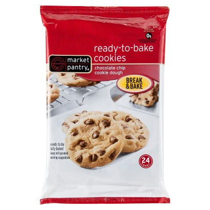 Market Pantry® Chocolate Chip Ready To Bake Cookies, 24 ct. 16 oz.