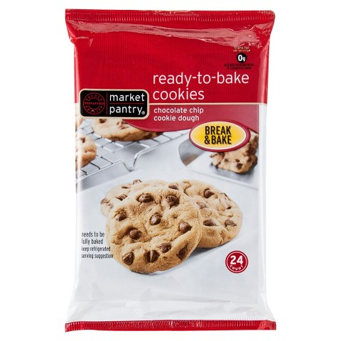 Market Pantry Chocolate Chip Ready To Bake Cookies-24 Count 16 oz