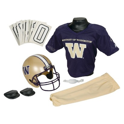 Washington Huskies Franklin Sports Deluxe Football Helmet/Uniform Set - Medium