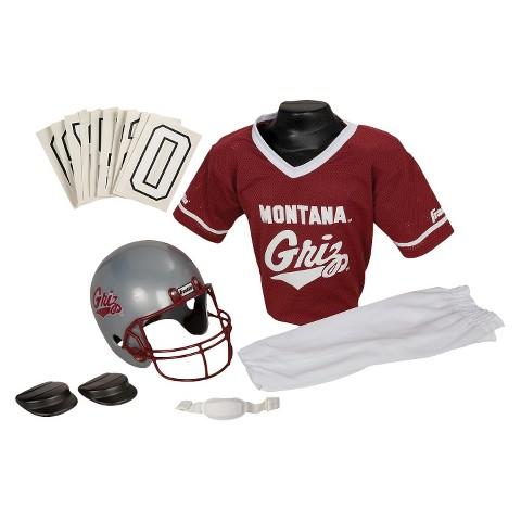 Franklin Sports Montana Grizzlies Deluxe Football Helmet/Uniform Set