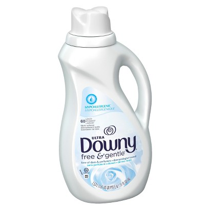 Downy® Free and Gentle™ Unscented Liquid Fabric Softener - 51floz