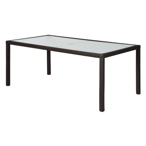 "Atlantis Wicker Rectangular Patio 72"" Dining Table"