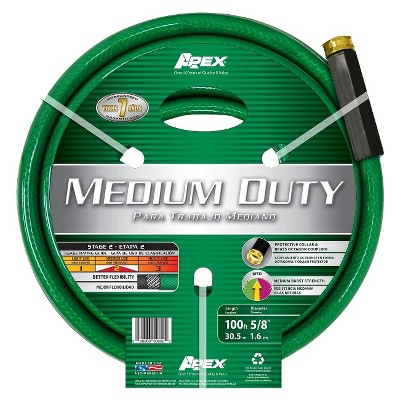 Apex Medium Duty Hose - Green (100')