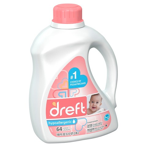 Dreft Liquid Laundry Detergent - 100floz