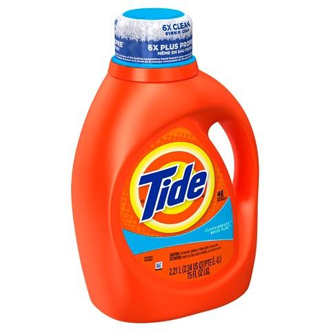 Tide Clean Breeze Scent Liquid Laundry Detergent 75 oz