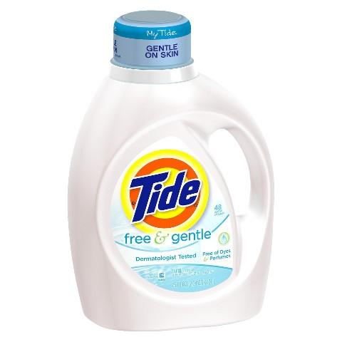 Tide Free & Gentle Liquid Laundry Detergent 75 oz