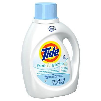 Tide Free & Gentle HE Liquid Laundry Detergent 75 oz