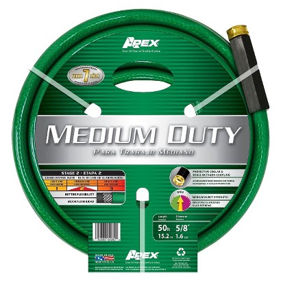 APEX MEDIUM DUTY HOSE - GREEN (50')