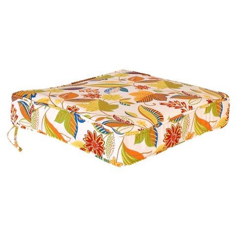 Outdoor Conversation/Deep Seating Cushion - White/Yellow Floral