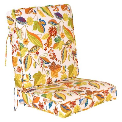 Outdoor Conversation/Deep Seating Cushion Set - White/Yellow Floral