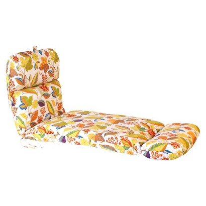 Outdoor Chaise Lounge Cushion - White/Yellow Floral