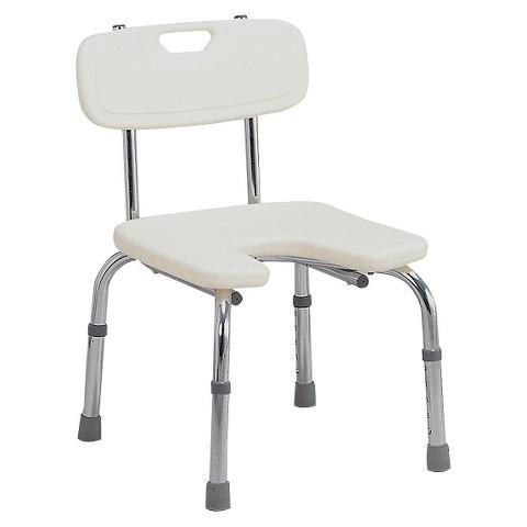 Mabis Healthcare Hygienic Bath Seat - White
